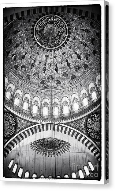 Suleymaniye Canvas Print - Suleymaniye Ceiling by John Rizzuto