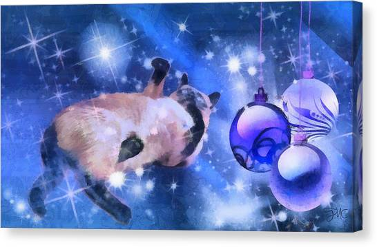 Sulley's Christmas Blues Canvas Print