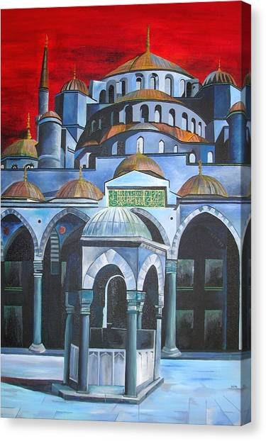 Sultan Ahmed Mosque Istanbul Canvas Print