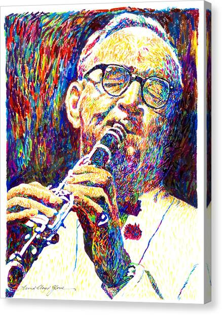 Clarinets Canvas Print - Sultan Of Swing - Benny Goodman by David Lloyd Glover