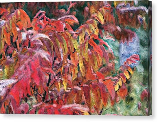 Sumac Swirl Canvas Print