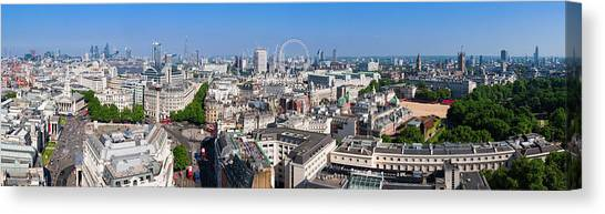 Sumer Panorama Of London Canvas Print