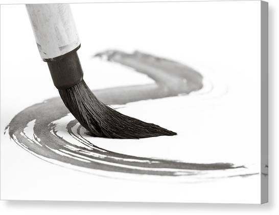 Sumi-e Brush 2 Canvas Print by Edward Myers
