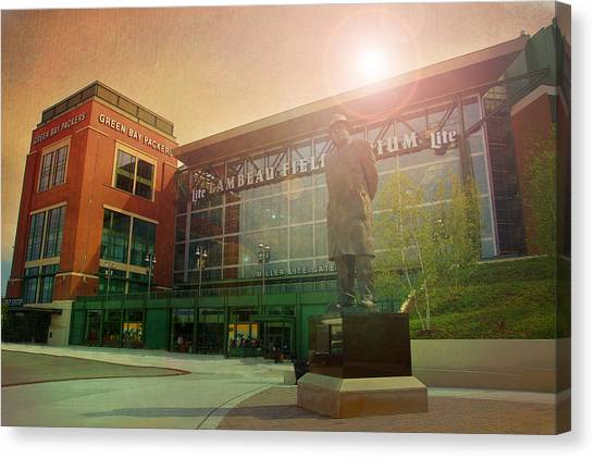 Clay Matthews Canvas Print - Summer At Lambeau by Joel Witmeyer