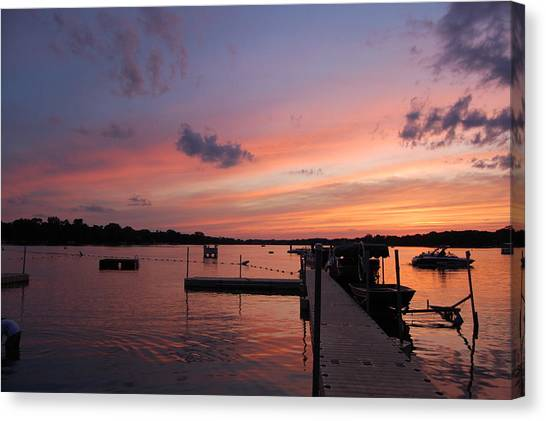 Summer At The Lake Canvas Print by Daniel Ness