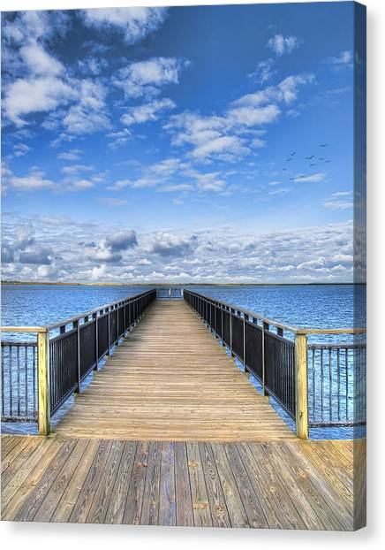 Dock Canvas Print - Summer Bliss by Tammy Wetzel