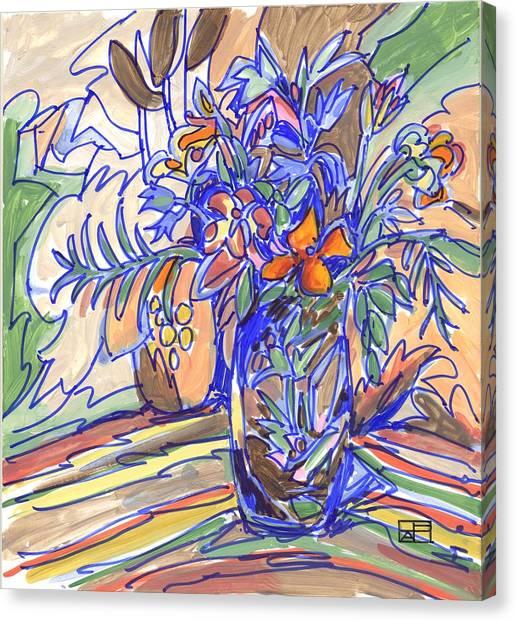 Summer Bouquet Canvas Print by Helen Pisarek