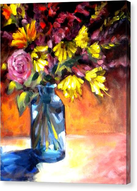 Summer Bouquet Canvas Print by Paula Strother