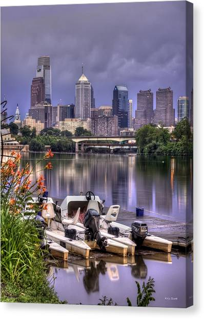 Temple University Canvas Print - Philadelphia Summer by Kristopher Henry Scott