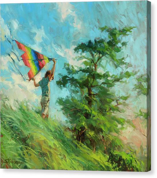 Boy Canvas Print - Summer Breeze by Steve Henderson