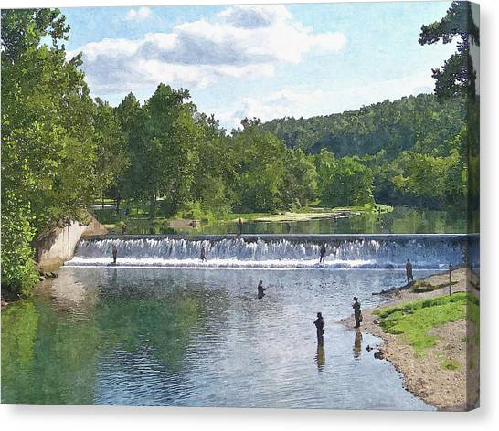 Summer By The Spillway Canvas Print