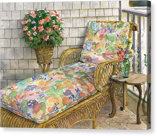 Summer Chaise Canvas Print