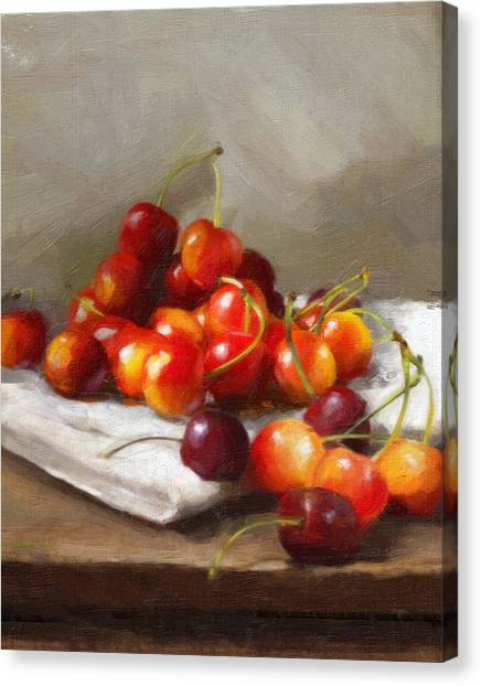 Summer Cherries Canvas Print