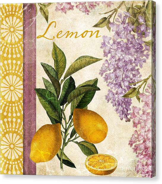 Grapefruits Canvas Print - Summer Citrus Lemon by Mindy Sommers