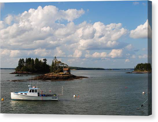 Summer Clouds Downeast Canvas Print by Steven Scott
