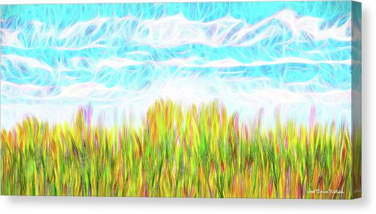 Summer Clouds Streaming Canvas Print