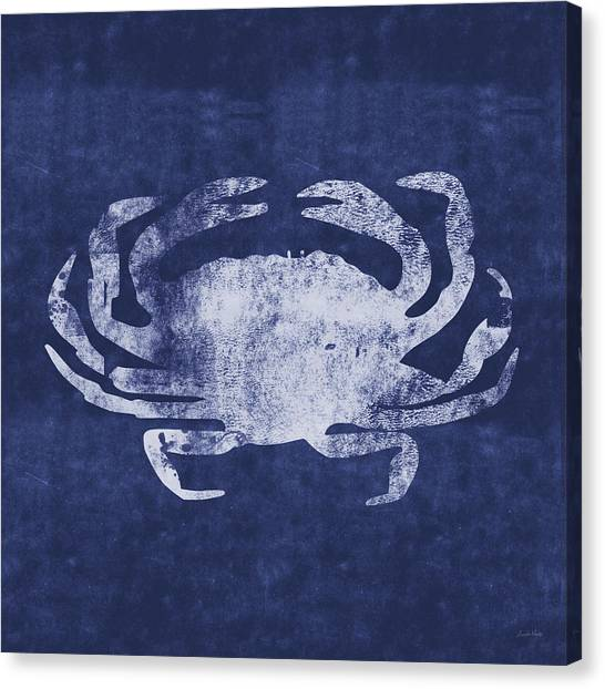 Crabs Canvas Print - Summer Crab- Art By Linda Woods by Linda Woods
