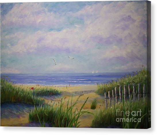 Summer Day At The Beach Canvas Print