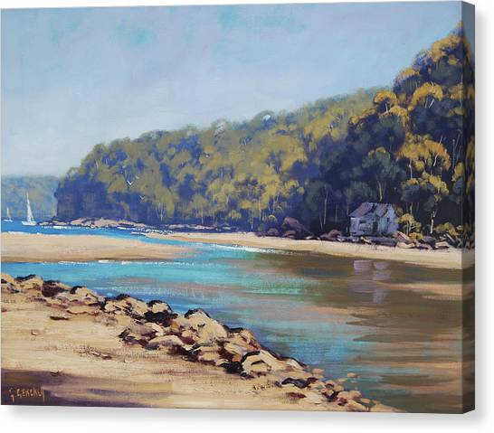 Yacht Canvas Print - Summer Day Patonga  by Graham Gercken