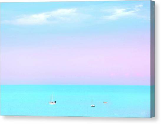Yacht Canvas Print - Summer Dreams by Az Jackson