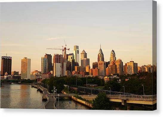 Summer Evening In Philadelphia Canvas Print