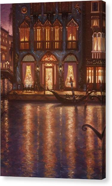 Summer Evening In Venice Canvas Print by Scott Jones