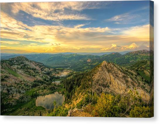 Summer Evening View From Sunset Peak Canvas Print