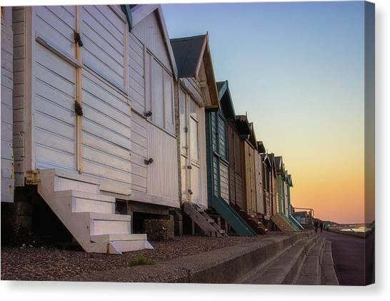 Beach Cabin Canvas Print - Summer Evenings by Martin Newman