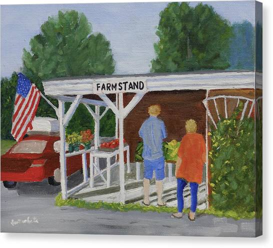 Summer Farm Stand Canvas Print
