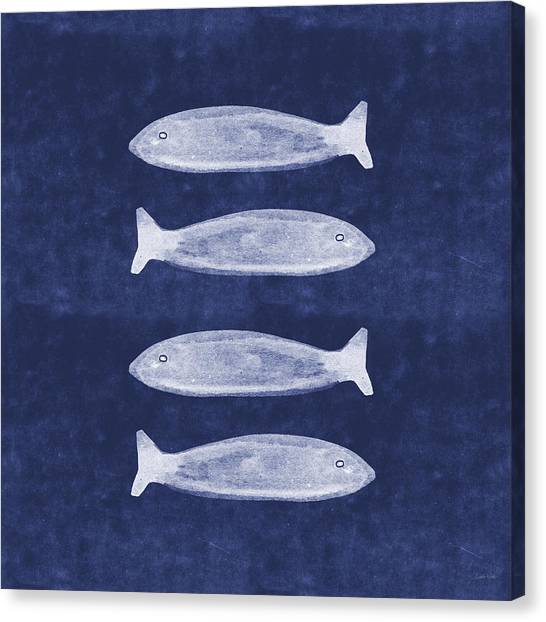 Beach House Decor Canvas Print - Summer Fish- Art By Linda Woods by Linda Woods