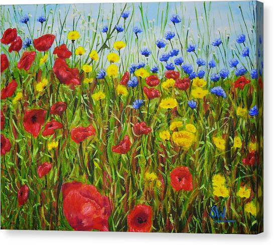 Summer Flowers Canvas Print