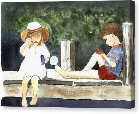 Summer Friends Canvas Print by Jane Croteau