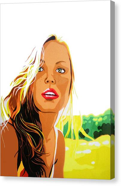 Summer Girl Canvas Print by Heli Luukkanen