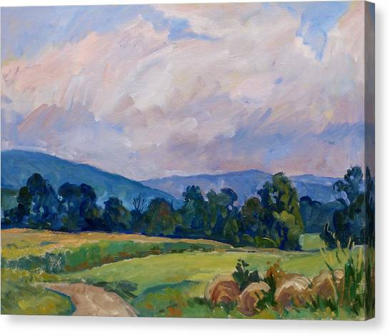 Summer Haze Berkshires Canvas Print