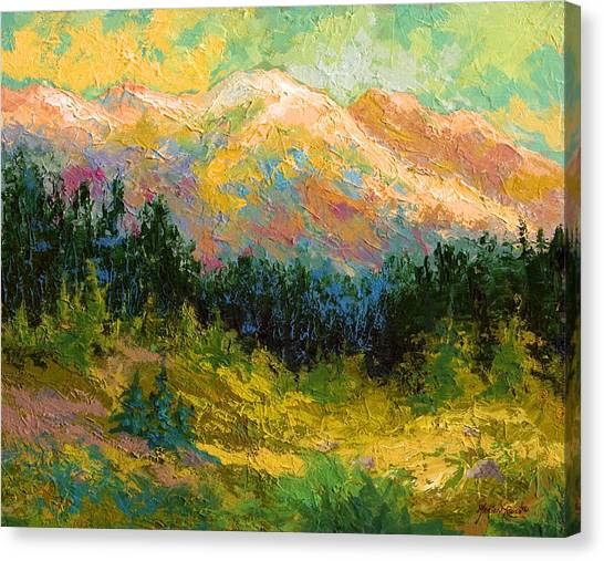 Alaska Canvas Print - Summer High Country by Marion Rose