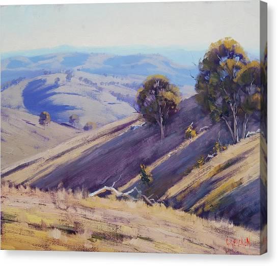 Realistic Canvas Print - Summer Hillside, Mudgee by Graham Gercken