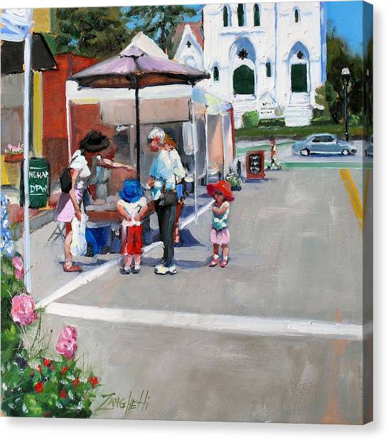 Summer In Hingham Canvas Print