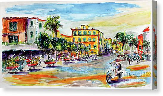 Summer In Sorrento Italy Travel Canvas Print