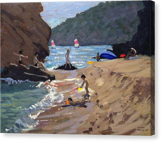 Sand Castles Canvas Print - Summer In Spain by Andrew Macara