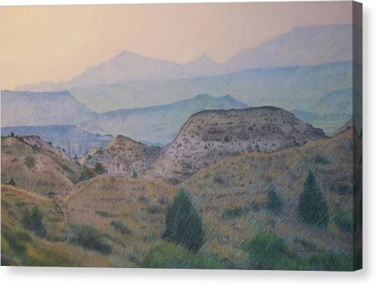 Summer In The Badlands Canvas Print