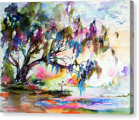 Summer In The Garden Of Good And Evil Watercolor Canvas Print