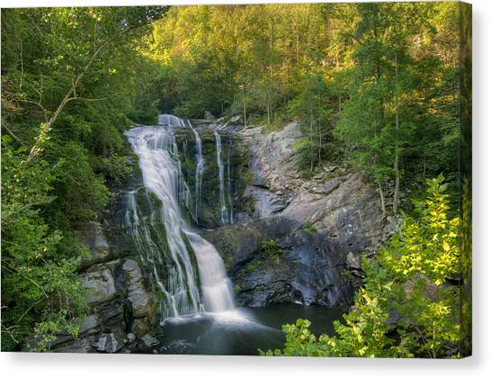 Summer In Water And Green Canvas Print by Darrell Young