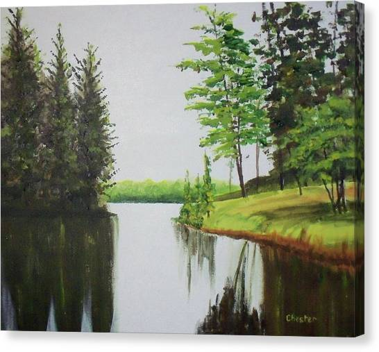 Summer Lake Canvas Print