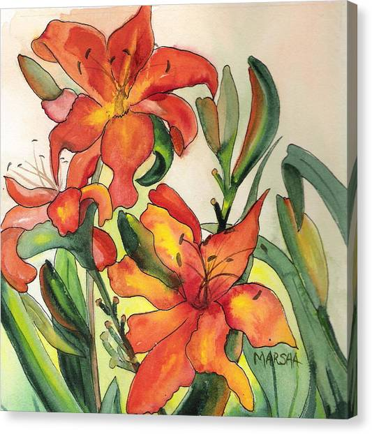 Summer Lilies Canvas Print