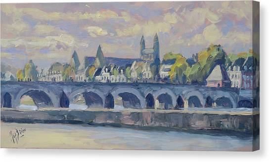 Canvas Print - Summer Maas Bridge Maastricht by Nop Briex