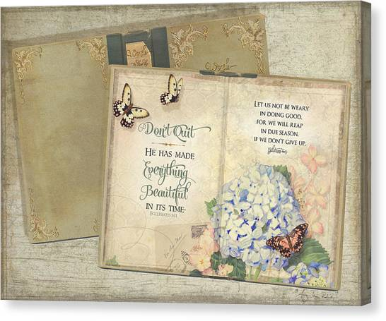Bible Verses Canvas Print - Summer Memories - Don't Quit Inspirational Scripture by Audrey Jeanne Roberts