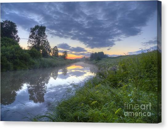 Birch Canvas Print - Summer Morning At 03.37 by Veikko Suikkanen