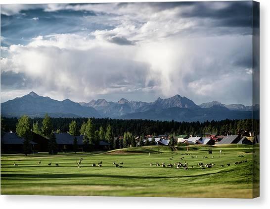 Canvas Print featuring the photograph Summer Mountain Paradise by Jason Coward