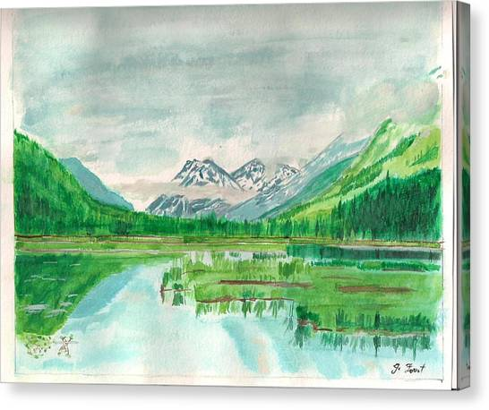 Summer Of Alaska Canvas Print by Jashobeam Forest