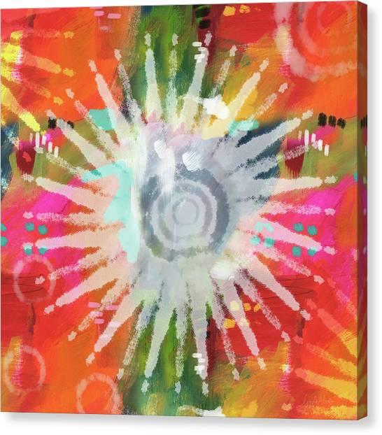 Tie-dye Canvas Print - Summer Of Love- Art By Linda Woods by Linda Woods